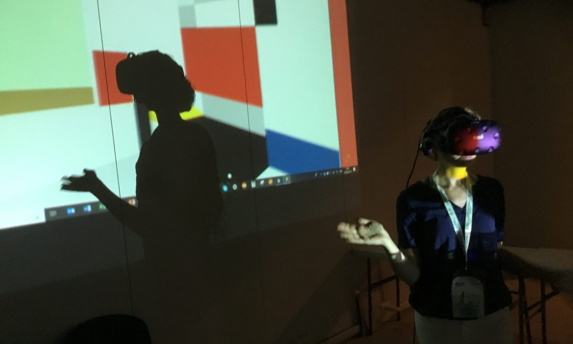 Mondrian in Perceptual, Real, and Virtual Space